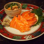 博多料理屋 だっ家 - 平貝とサーモンの刺身