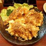 拉麺 餃子 竹蔵 - 天ぷらのせ冷やし中華