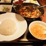 過門香 - 重慶式麻婆豆腐セット 1300円