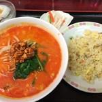 25002585 - 坦々麺とチャーハンの定食(750円)