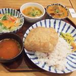 上亀 - 深川インド定食(1000円) メインのカレーはあさり