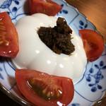 25008185 - 豆腐をふき味噌と猪のそぼろで