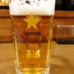 ホルモン屋 だん - 生ビール/2014年3月来店