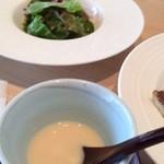 ちかゑ - サラダとジャガイモのスープ