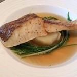 ちかゑ - 白身魚と水菜のコンソメ