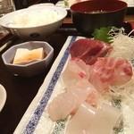 うみかぜ - 旬の天然魚のお刺身定食 1000円