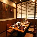 天ぷら ひさご - テーブル個室