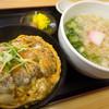 Matsuyoshi - 料理写真:「カツ丼セット」(680円)。丼もうどんも(小)ってコトですけど・・・結構なボリューム!