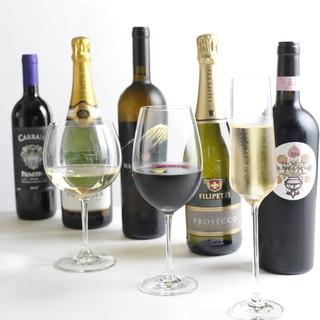 ワインコース最高の料理とのマリアージュをご提案致します。