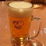 レストラン ツジタ - ドリンク写真:ほろ酔いセット・・・最初に生ビールだけがやってくる