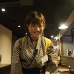 ゆるり。 酒槽 - 山口百恵ちゃん、もとい、由恵ちゃんです。いろいろ気が利き、いい子です。