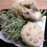 25033201 - そばもと @板橋区役所前 揚げ立て! 野菜天