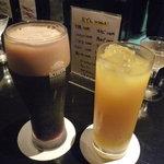 北乃椿 - ☆乾杯の後は黒ビール&パインジュースです(笑)☆