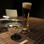 25068740 - 生ビールと前菜