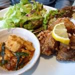 やさいとお酒  ひだまりカフェ - メイン:本日のお魚 まぐろの竜田揚げ