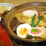 藤屋 そば店 - 鍋焼きうどん(850円)