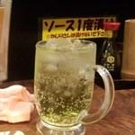 神戸新開地 元祖串かつ 八喜為 元町店 - チューハイレモン 450円