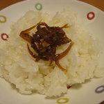 日本料理 とり市 - 白魚のつくだ煮