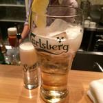 CONA - カールスバーグ ドラフトビール(¥500)