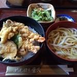 めんぼう壱久 - ランチ天丼セット 850円