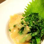 博多なぎの木 - 菜の花の酢味噌和え