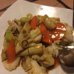 香港厨房 - 細竹と海鮮のXO醬炒め
