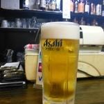 ホルモン 大和 - ビールはアサヒ。