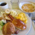 京都市宇多野ユースホステル - 洋食系の朝食