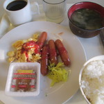 京都市宇多野ユースホステル - 和食系の朝食