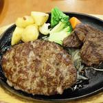 ステーキのどん - スライスステーキ90g&超・粗挽きハンバーグ250g1,290円