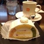 アルファミラン - ケーキセット 珈琲と合わせて640円