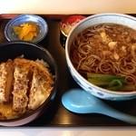 佐賀 - そばとカツ丼セット