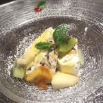 温古舎 - ディナーコースのデザート