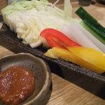 2513915 - シャキシャキ野菜(自家製味噌付)