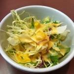 インダス - カレー食べ放題¥980 サラダ(食べ放題ではない)
