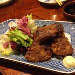 楽食家たちかわ - レバー味噌漬け焼650円。