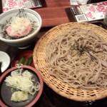 おらが蕎麦 神戸クリスタルタワー店 - ねぎとろ丼定食730円