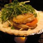 首里食堂 - ホタテ貝焼き550円