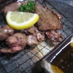 首里食堂 - 鶏レバー炭火網焼き(鹿児島産)450円