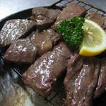 首里食堂 - 牛ステーキ炭火焼き(塩わさび)650円
