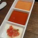 かき殻荘 - 蒸し牡蠣のタレ