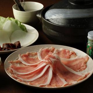 飲み放題付き国産豚しゃぶコース(2H)