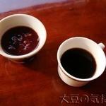 櫻屋 - 店外のお汁粉とコーヒー
