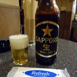 MAX - 「ビール(大瓶)」500円也。