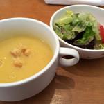 洋食屋料理番 - 本日のお魚ランチ@1,300(パン、サラダ)