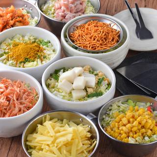 いろいろ選べるいろいろ食べれる!大満足必至の食べ放題コース