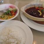 カフェ・プチ・コパン - セット料理の全貌。豪華です。1350円です