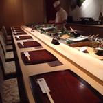 寿司・日本料理 さわ田 - お寿司カウンター