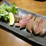 鉄板屋 我んが - 厚切り牛タンステーキ980円