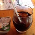 のんき - サービスのアイスコーヒー